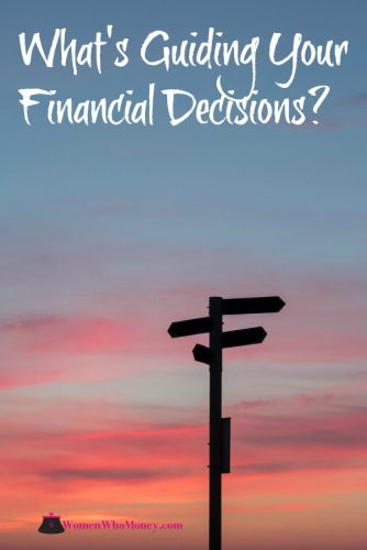 graphic that asks a question what's guiding your financial decisions
