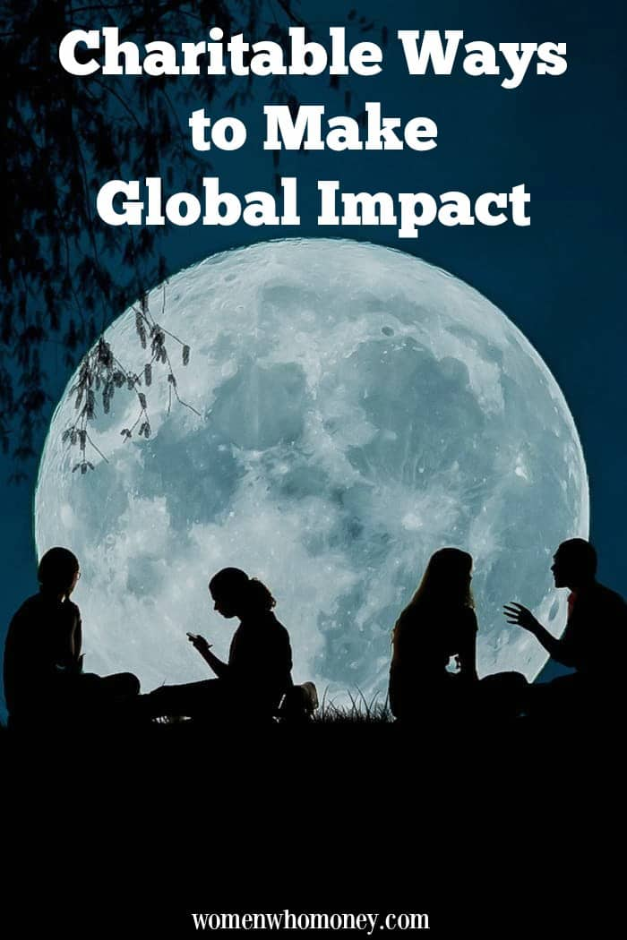 charitable ways to give back and make a global impact graphic