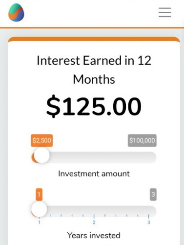 example graphic of interest earned in 12 months with an initial 2000 dollar worthy bonds investment