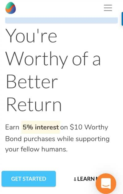 you're worthy of a better return graphic from worthy app