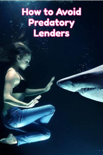 how to avoid predatory lenders graphic
