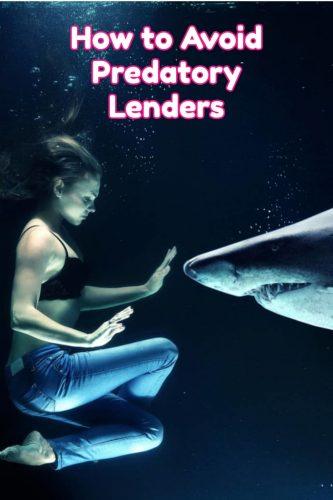 how to avoid predatory lenders graphic