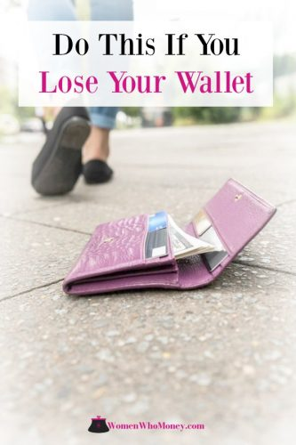do this if you lose your wallet or purse graphic
