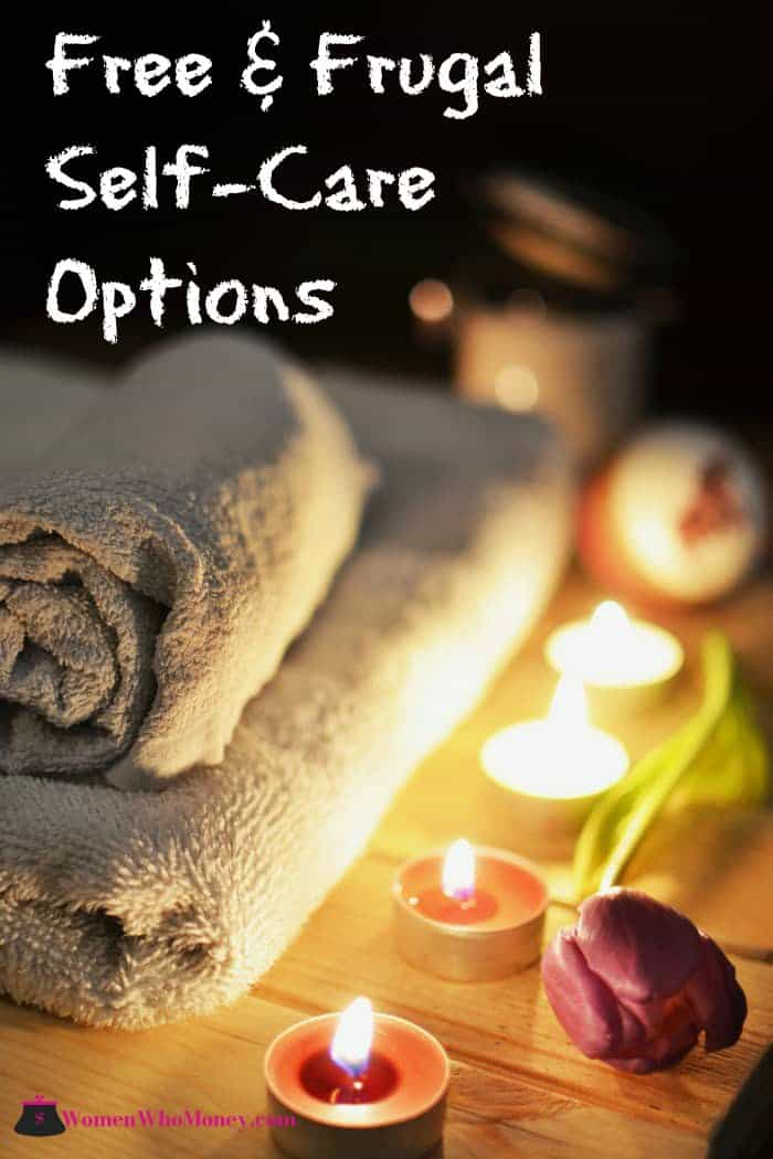 free and frugal self care options graphic