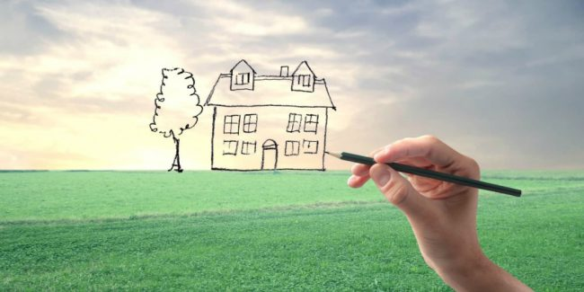 drawing a picture of a home
