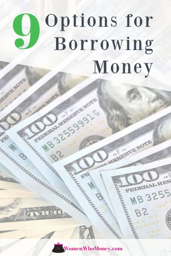 9 options for borrowing money graphic
