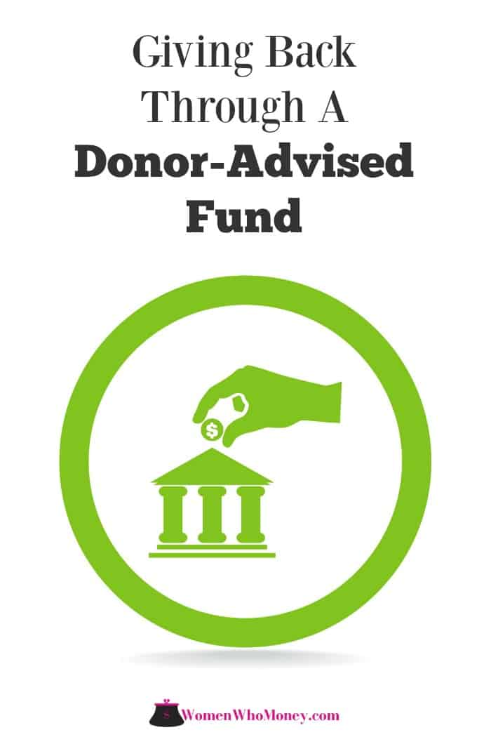giving back through a donor-advised fund