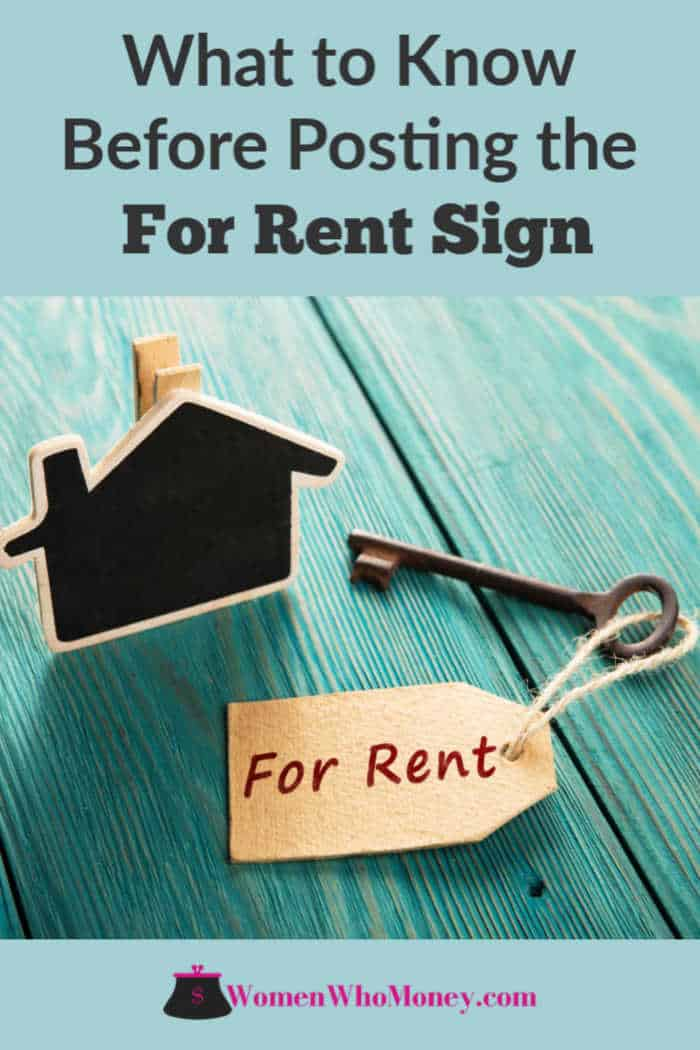 what to know before posting the for rent sign graphic