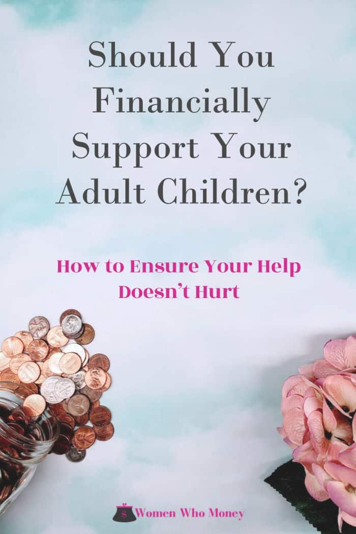 how to ensure your financial support does not hurt your adult child graphic