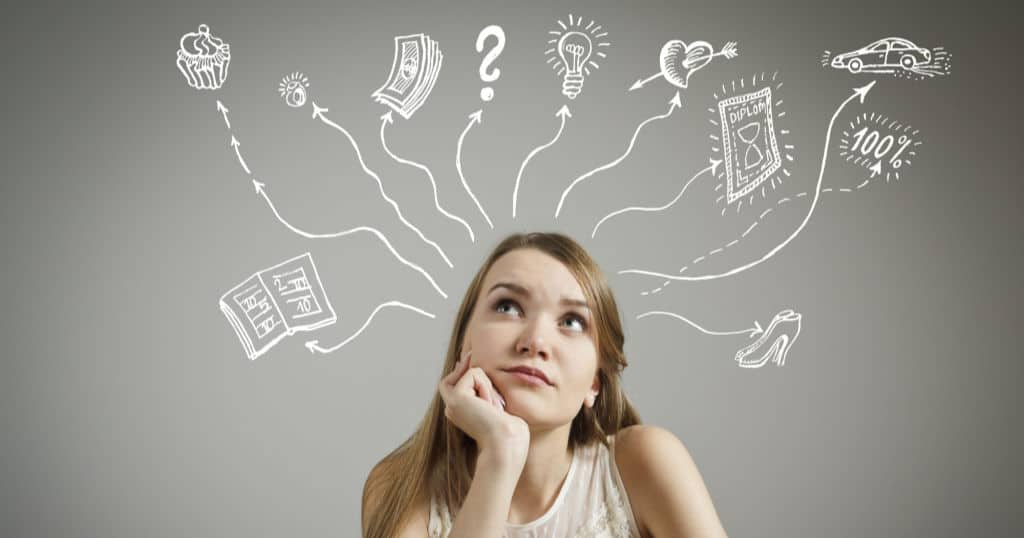 teen thinking about financial topics