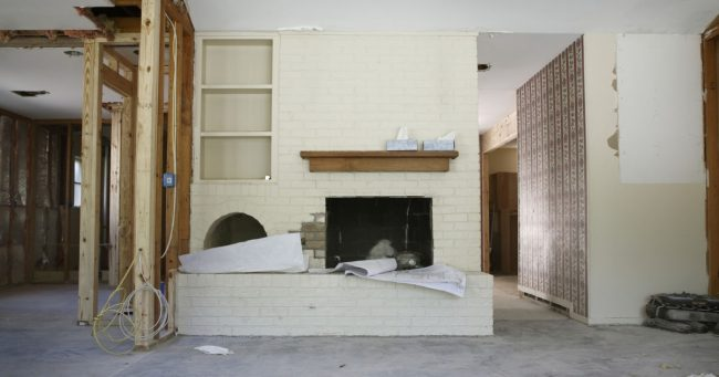 interior of a live in house flip