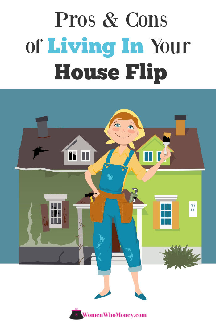 graphic of a women working on a house flip