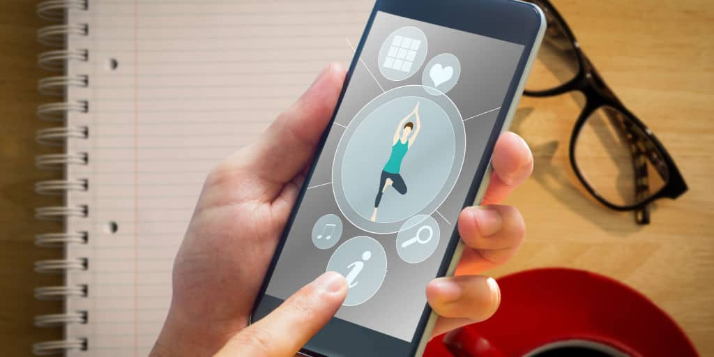 health and fitness app on smart phone 2
