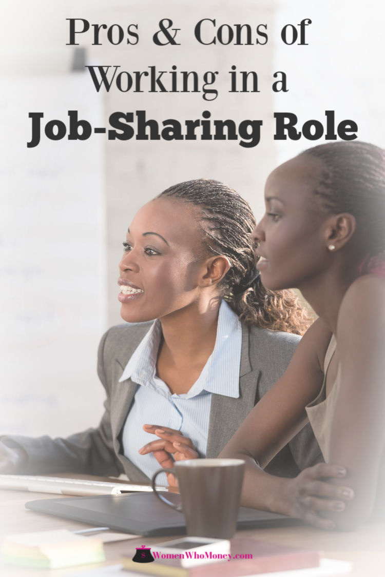 pros and cons of working in a job sharing role graphic