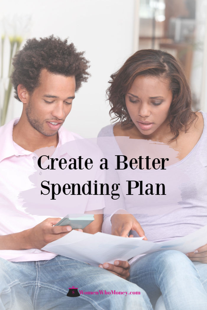 couple working on creating a better spending plan
