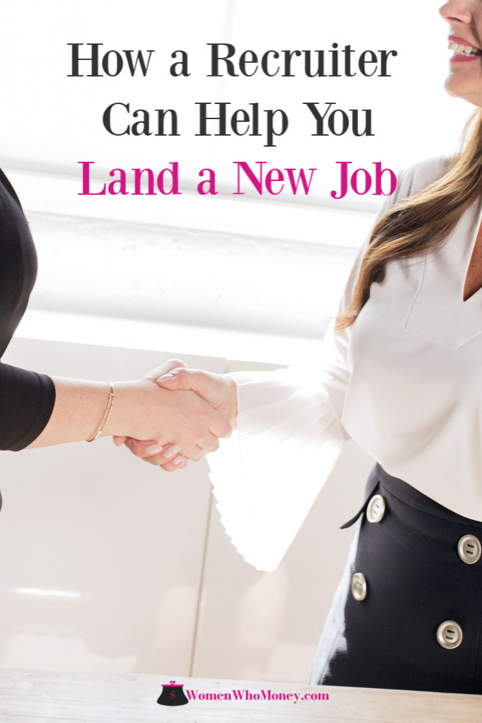 how a recruiter can help you land a new job graphic