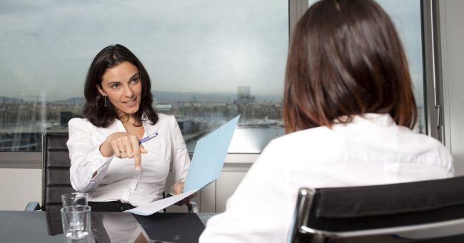 recruiter helping candidate with job search