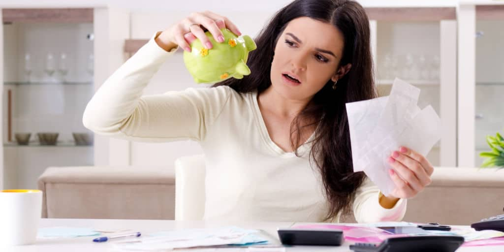 woman having challenges with her budget