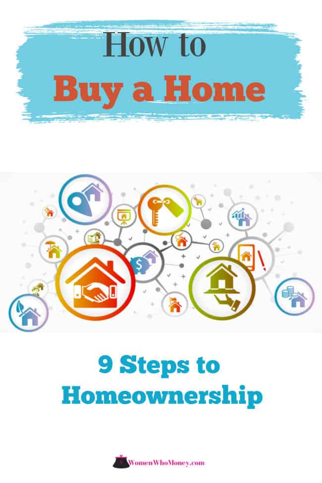 how to buy a home 9 steps to homeownership graphic