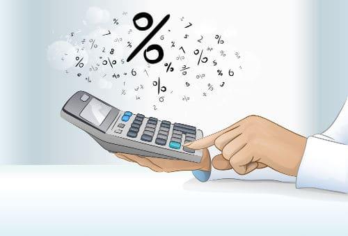 women holding a calculator