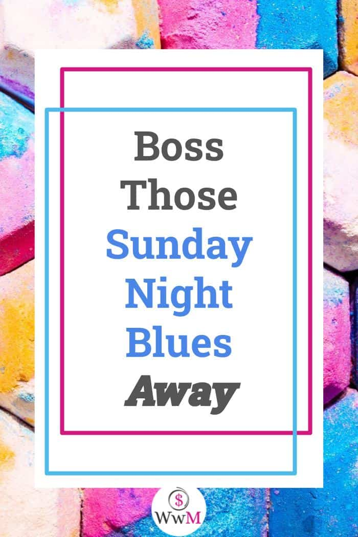 graphic that reads boss those sunday night blues away
