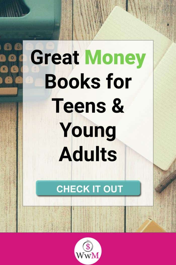 great money books for teens and young adults graphic