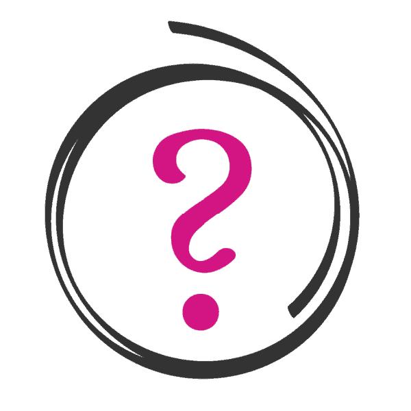 ? symbol in black open circle
