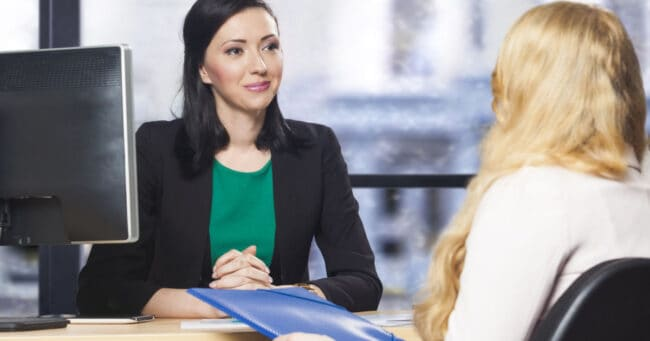 woman have a successful job interview
