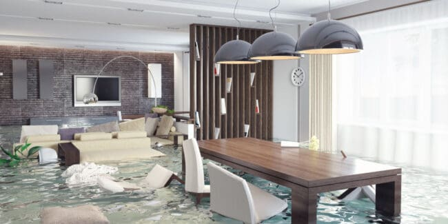 flooding in luxurious homes interior