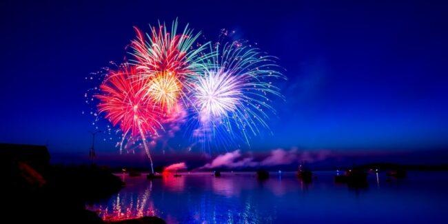 fireworks celebrating financial independence