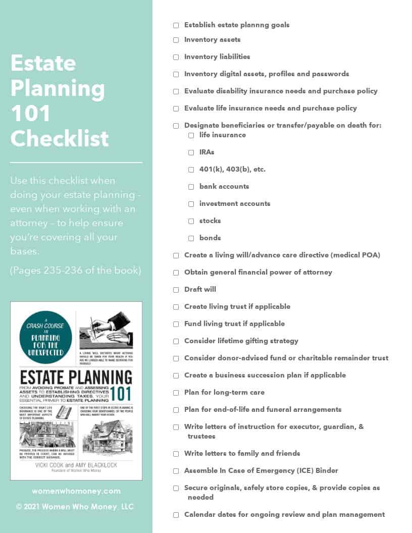 estate planning 101 checklist