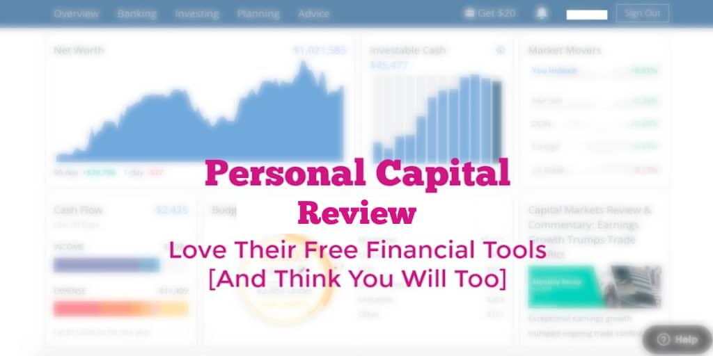 blurry view of the personal capital dashboard