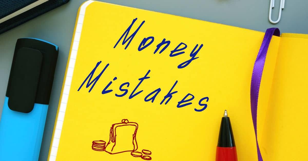 money mistakes written in a journal