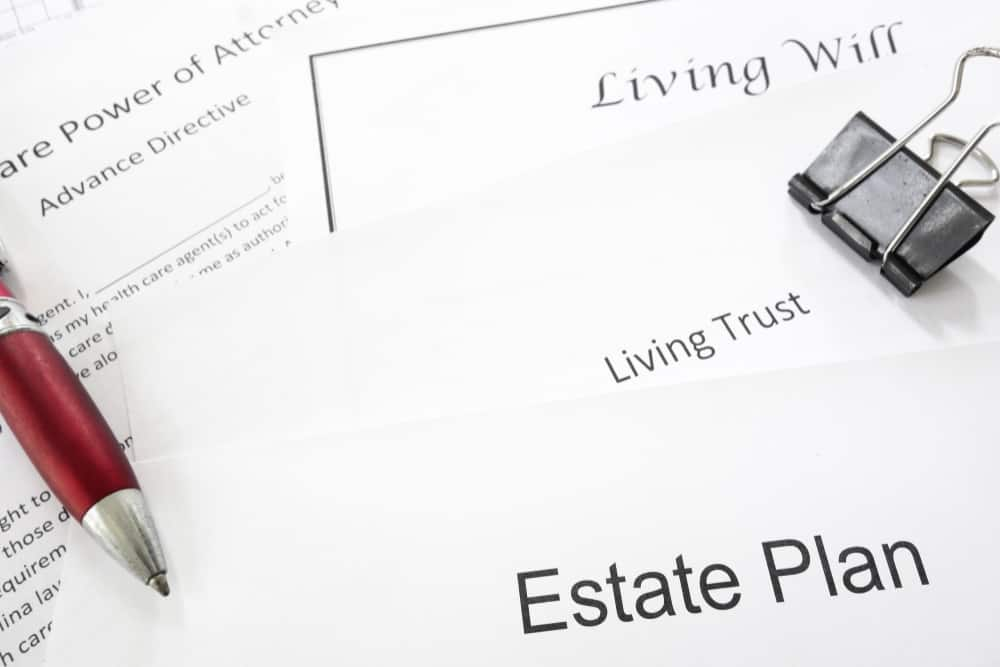 Estate planning documents : Living Trust, Living Will, Healthcare Power of Attorney